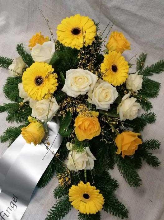Rosen und Gerbera gelb- orange
